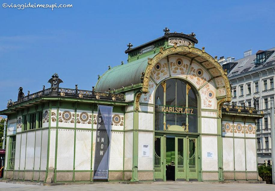 Vienna in un weekend, padiglione della metropolitana Karlsplatz