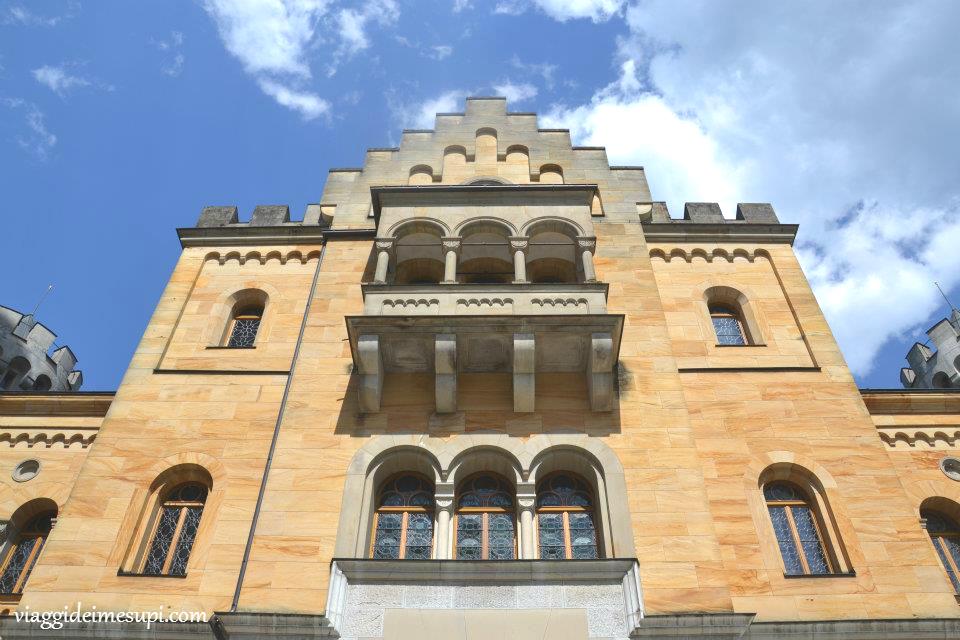 Castello di Neuschwanstein, pareti esterne