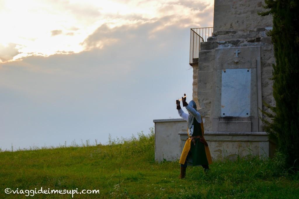Visita animata alla Torre degli Ezzelini, cavaliere al tramonto