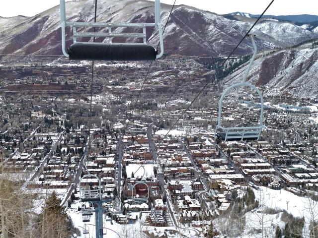 Viaggio ad Aspen, seggiovia