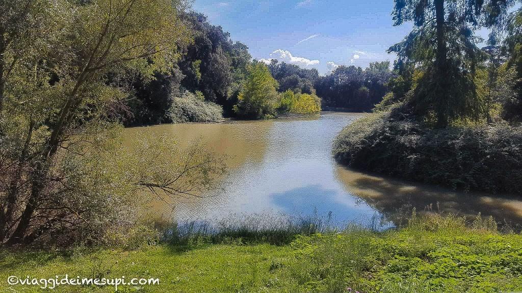 pista ciclabile di Villa Pamphili, il lago