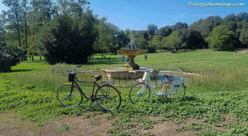 Pista ciclabile Villa Pamphili, giardino