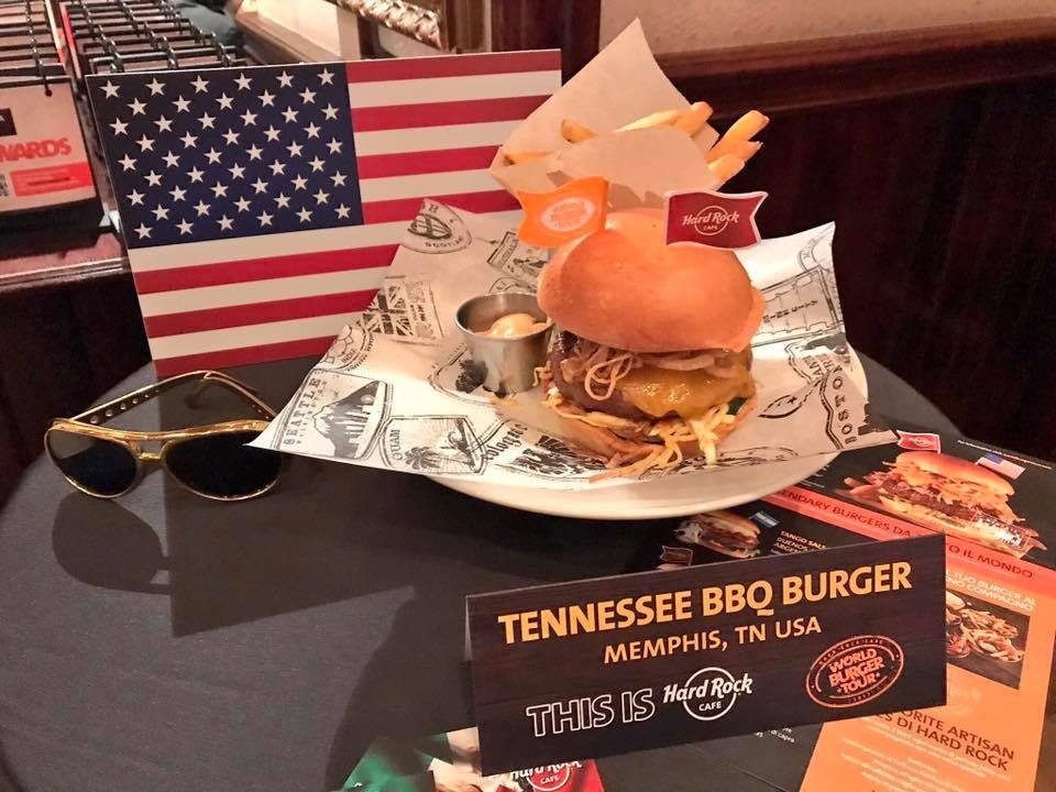World Burger Tour Hard Rock, Tennessee burger